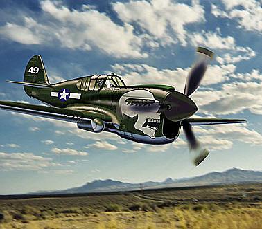 """P-40N Warhawk """"Joanne"""", 1:48, Franklin Mint"""
