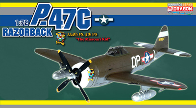 P 47C-5, 334th FS 4th FG, Missouri Kid, Flight Officer Ralph Hofer, 1943, 1:72, Dragon Wings