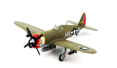 P-47D Razorback, Lt. Frank Klibbe, 56th FG, 61st FS USAAF, Halesworth, UK, March 1944, 1:48. Hobby Master