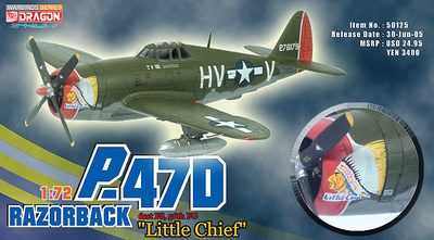 "P-47D Razorback ""Little Chief"", Lt. Frank Klibbe, 61st FS, 56th FG 1:72, Dragon Wings"