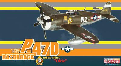 "P-47D Razorback ""Okie"", 84th FS, 78th FG, 1:72, Dragon Wings"