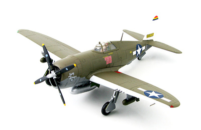 "P-47D Thunderbolt ""Razorback"" 42-22668, Col. Neel Kearby ""Fiery Ginger IV"" 348th FG., New Guinea, March 1944, 1:48. Hobby Master"