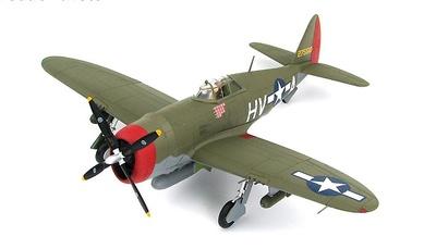 "P-47D Thunderbolt ""Razorback"" 42-75510, Lt. Col. Francis Gabreski, 61st FS, Halesworth, Jan 1944, 1:48. Hobby Master"