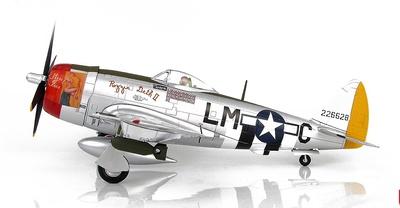 "P-47D Thunderbolt ""Rozzie Geth II"" Capt. Frederick Christensen, 62nd FS/56th FG, Inglaterra, 1944, 1:48. Hobby Master"