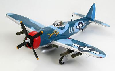 """P-47M Thunderbolt 44-21160 """"Devastatin Deb"""",  John C Fahringer 63rd Fighting Squadron, 1945, 1:48. Hobby Master"""