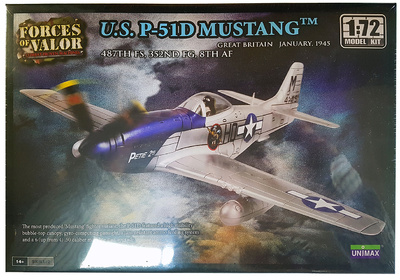P-51 D Mustang, 48th FS, 352nd FG, 8th AF, Gran Bretaña, Enero, 1945, 1:72, Forces of Valor