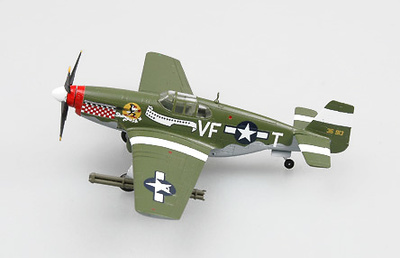 P-51B, Mustang, Capt. D.Gentile, 336th FS,4THFG, Inglaterra, Marzo, 1944, 1:72, Easy Model