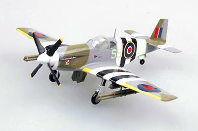 P-51B Mustang, RAF, FZ152, 1944, 1:72, Easy Models