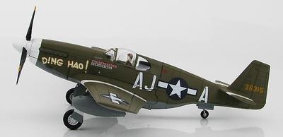 "P-51B Mustang 43-6315 ""Ding Hao"", 487th FS, 354th FG, 9th AF, Grran Bretaña, Mayo, 1944, 1:48, Hobby Master"
