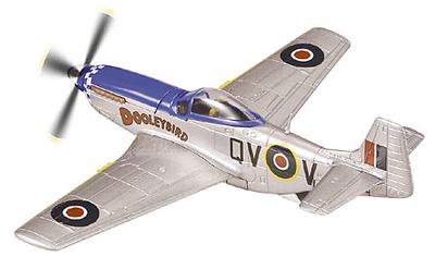 "P-51D Mustang, RAF 19 Squadron""Dooleybird"", Joe Dooley, 1945, 1:72, Corgi"