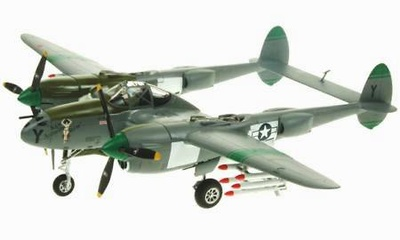 P38 Lightning USAF oth Fighter Group San Antonio Rose, 1:72, Witty Wings