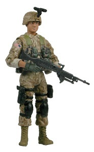 PFC. CURTIS OBREGON, U.S. Marine, 1:18, Bravo Team