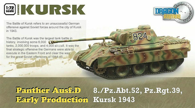 Panther Ausf D, Producción Temprana, 8.Pz.Abt.52, Pz.Rgt.39, Kursk, 1943, 1:72, Dragon Armor