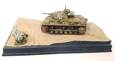 Panzer III, Afrika Korps, Tobruc, 1941. 1:72, Altaya