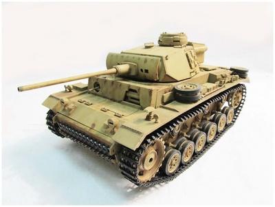 Panzer III, color amarillo desierto, 1:16, Mato