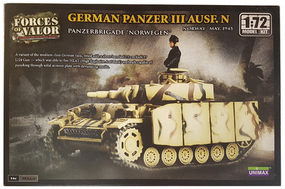 "Panzer III Ausf. N, Panzerbrigade ""Norwegen"" Noruega, Mayo, 1945, 1:72, Forces of Valor"