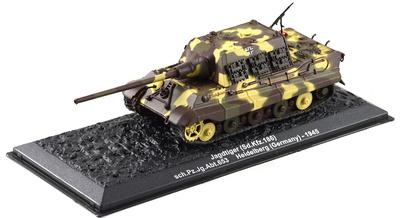 Panzerjäger Tiger Ausf.B (Sd.kfz.186) Jagdtiger sch. Pz.jg.abt.653, 1945, 1:72, Altaya