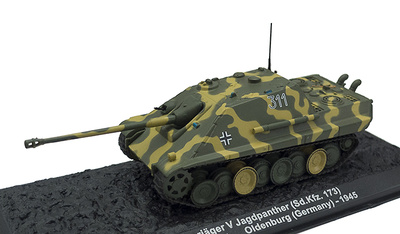 Panzerjäger V, Jagspanther (Sd.kfz. 173), Oldenburg, Alemania, 1945, 1:72, Altaya