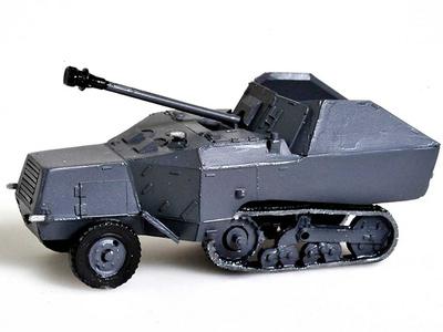 Panzerjager 7.5cm,  Somua MCG, 1:72, Wespe Models