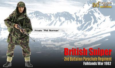 """Phil Norman"", British Sniper, 2nd Battalion Parachute Regiment, Guerra de Las Malvinas, 1982, 1:6, Dragon Figures"