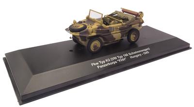 """Pkw Typ K2 (VW Typ 166 Schwimmwagen) Panzerkorps """"FHH"""", Hungría, 1945, 1:43, Atlas"""