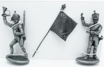 Portaestandarte del 84 Regimiento de Infantería de Línea, Estandarte, Corneta de Infantería, 1:24, Atlas Editions