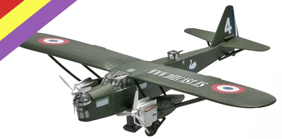 Potez 540, Aviación Republicana, Toledo 1936, 1:144, Altaya