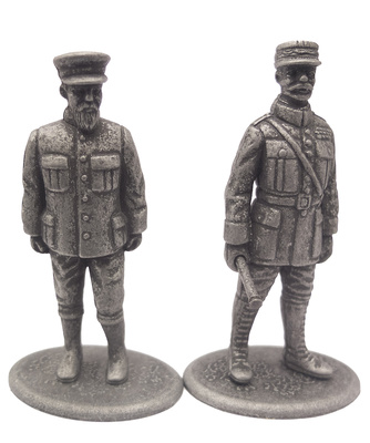 President of the French Republic Raymond Poincaré and Mariscal Ferdinand Foch, 1:24, Atlas Editions