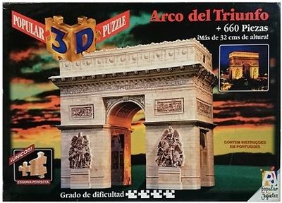 Puzzle 3D, Arco del triunfo, Popular 3D Puzzle