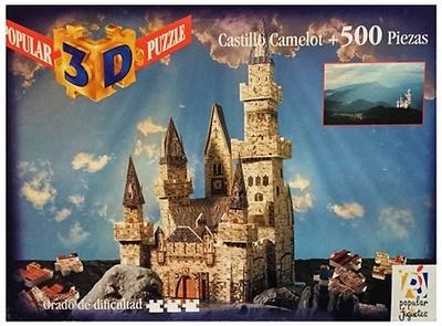 Puzzle 3D, Castillo Camelot, Popular 3D Puzzle