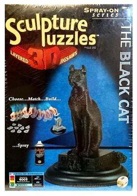 Puzzle 3D, The black cat, Multicolour Series