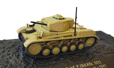 Pz.Kpfw II Ausf.F (Sd.Kfz.121) 21.Pz.Div., Gambur, Libia, 1941, 1:72, Altaya
