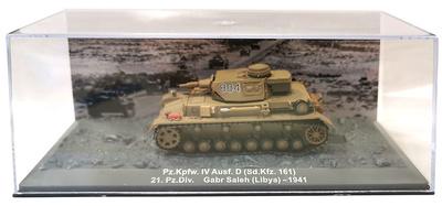 Pz.Kpfw IV Ausf.D (Sd.Kfz.161) 21.Panz.Div. Gabr Saleh, Libia, 1941, 1:72, Altaya