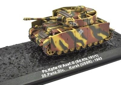 Pz.Kpfw IV Ausf.G (Sd.Kfz.161/1) 20.Panz.Div. Kursk USSR 1943, 1:72, Altaya