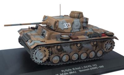 Pz.Kpfw. III Ausf. I (Sd.kfz. 141), 16b División de Infantería Motorizada, Voronezh (URSS), 1942, 1:43, Atlas