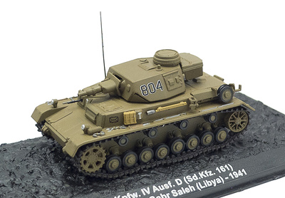 Pz.Kpfw. IV Ausf. D (Sd.kfz: 161), Libia, 1941, 1:72, Altaya