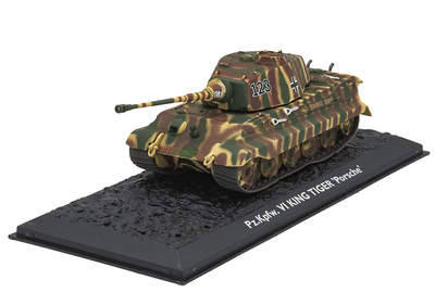 "Pz.Kpfw. VI King Tiger ""Porsche"", Alemania, 1944/45, 1:72, Atlas Editions"