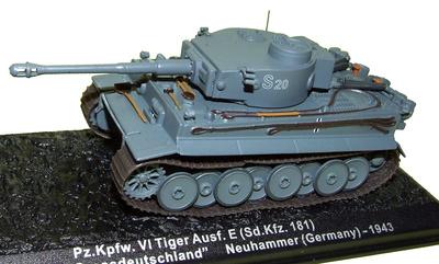 Pz.Kpfw. VI Tiger Ausf. E (Sd.Kfz. 181) 13./Pz. Regt. Grossdeutschland, Alemania, 1943, 1:72, Altaya