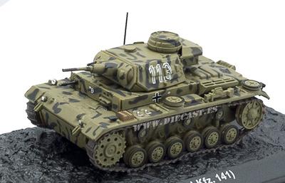 Pz.Kpfw.III Ausf.G (Sd.Kfz. 141) Sidi Rezegh (Lybia) 1941, 1:72, Altaya
