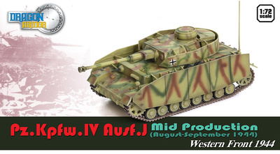 Pz.Kpfw.IV Ausf.J, Mid Production, Frente del Oeste, 1944, 1:72, Dragon Armor