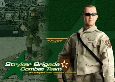 """""""Ralph"""", Stryker Brigade Combat Team, 3ª brigada, 2ª División de infantería, Irak, 2004, 1:6, Dragon Figures"""