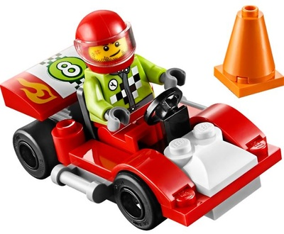 Red sports car, Lego Juniors