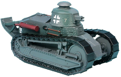 Renault FT, tourelle Berliet avec canon 37 mm France 1940, 1:48, Gasoline