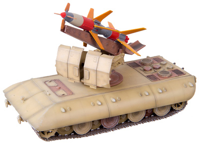 Rheintochter 1, Lanza Misil Móvil sobre cuerpo de E-100, Alemania, 1946, 1:72, Modelcollect