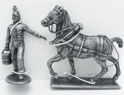 Right Horse of the Field Forge, Cuirassier with Exercise Suit with Water Cube, 1:24, Atlas Editions