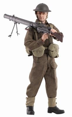 """Robert Davies"" (Soldado), BEF Lewis Gunner, Dunkirk, 1940, 1:6, Dragon Figures"