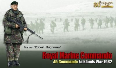 """Robert Hughman"", Royal Marine Commando, 45 Commando, Guerra de Las Malvinas, 1982, 1:6, Dragon Figures"