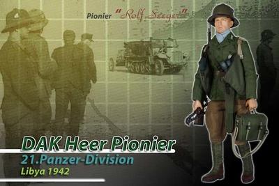 Rolf Seeger, Pionier DAK, 21.Panzer Division, Lybia 1942, 1:6, Dragon Figures