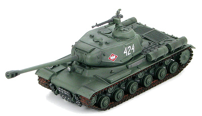 """Russian Heavy Tank JS-2m """"424"""" 2nd Company of 4th Independent Heavy Tank Regt., 1st Polish Army, Berlin Operation, April 1945, 1:72, Hobby Master"""