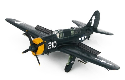 SB2C-4E Helldiver No. 210, VB-84, USS Bunker Hill, Tokyo Raids, Febrero, 1945, 1:72, Hobby Master